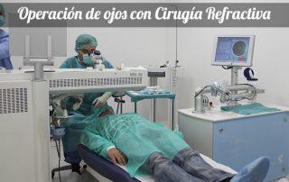 cirugía refractiva láser o lente intraocular