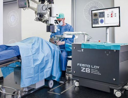 Cataract operation with femtosecond laser