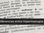 Diferencias entre hipermetropía y presbicia