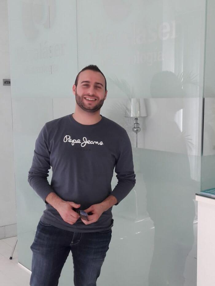 Opinión de Fabio, operado con Cirugía Láser de Femtosegundo en Granada
