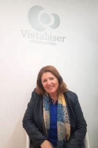 Adela, operada de catarata con lente trifocal en Málaga