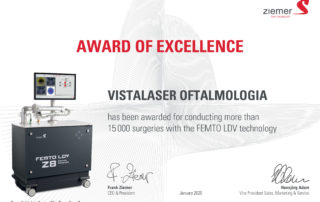 Award of Excellence Vistalaser Oftalmologia